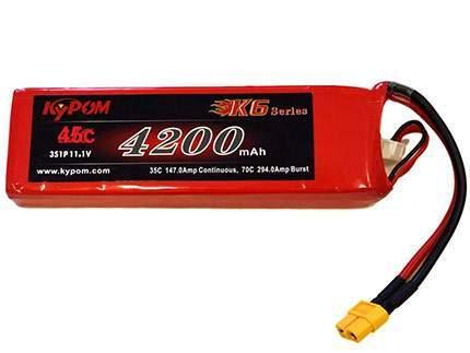 باتری ۱۱٫۱ ولت ۴۲۰۰ میلی آمپر لیتیوم پلیمر