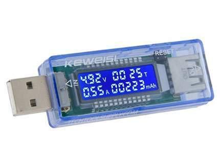 شارژر باطری USB با قابلیت نمایش ولتاژ