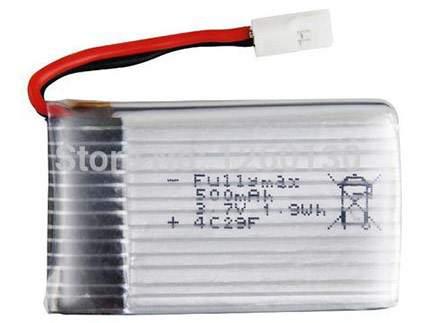 باتری لیتیوم پلیمر 3.7 ولت 500 میلی آمپر