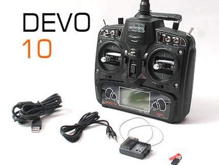 رادیو کنترل دوو ده کانال DEVO 10