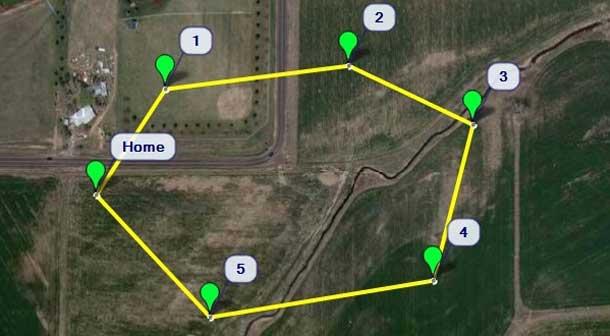 مسیریابی نقطه ای در پهباد های مجهز به GPS