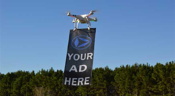 تبلیغات هوایی به کمک کوادکوپتر