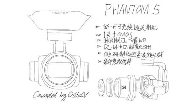 شایعاتی پیرامون کوادکوپتر Phantom 5