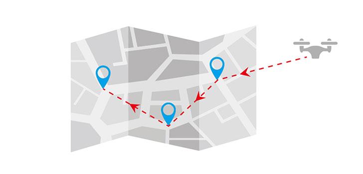 مسیردهی از روی نقشه باگز 3 پرو