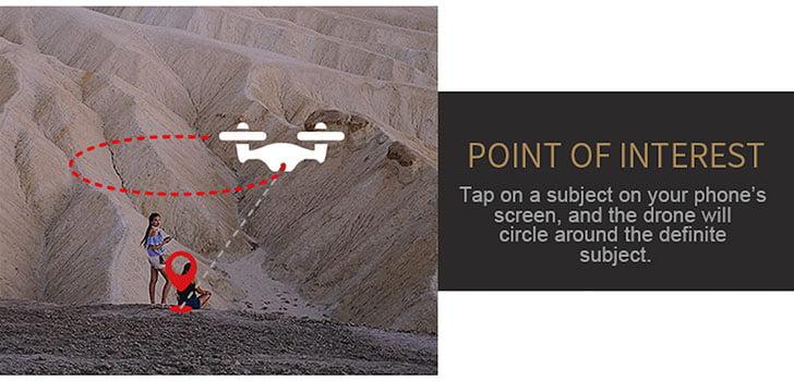 کوادکوپتر X7 مجهز به حرکت دایره ای به دور سوژه